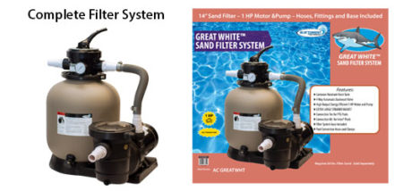 Great White Sand Filter System
